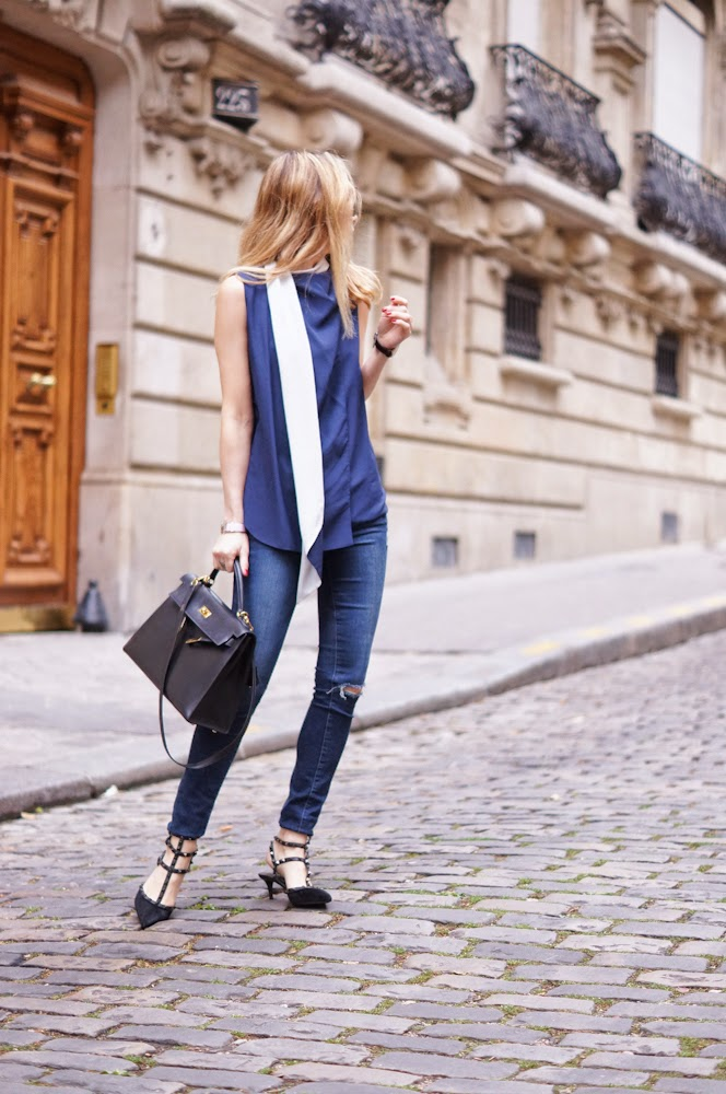 céline, valentino rockstuds, frame denim, hermès, daniel wellington, streetstyle, eiffel tower, paris, fashion blogger, chic
