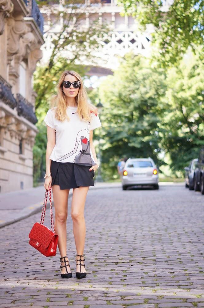 lanvin, chanel, valentino, rockstuds, vanessa bruno, fashion blogger, parisienne, chic