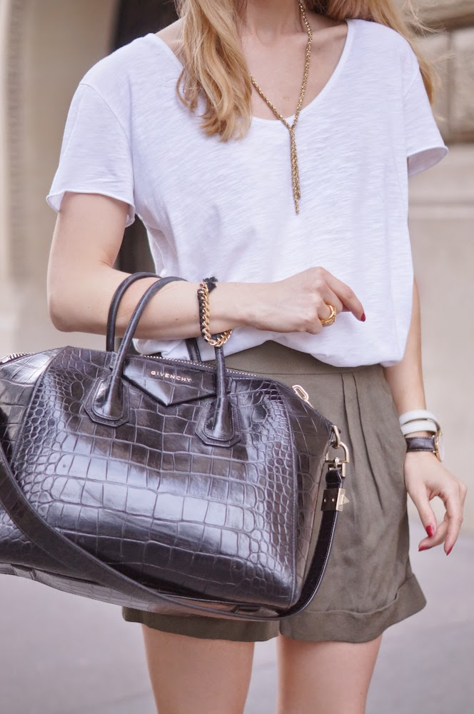 mango, aurélie bidermann, givenchy, jimmy choos, outfit, look du jour, parisienne, chic, blonde