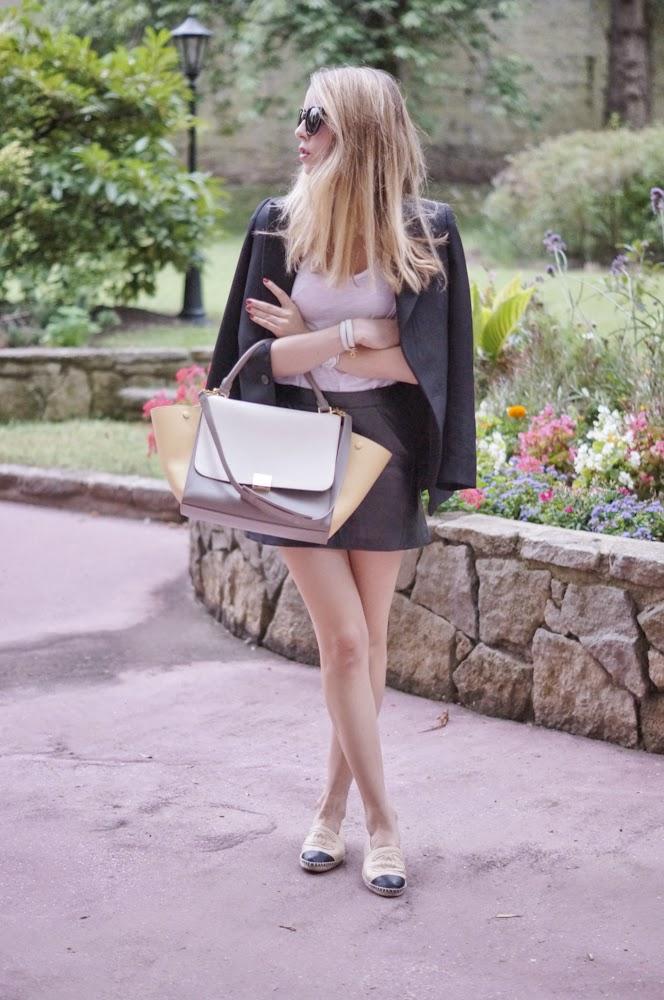 city staples, fashion blogger, céline, chanel, vanessa bruno, topshop, streetstyle, look du jour, outfit