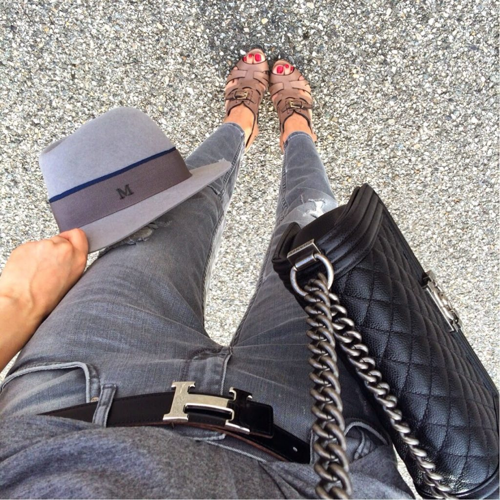 fashion blogger, instagram, céline, chanel, zara, givenchy, maison michel