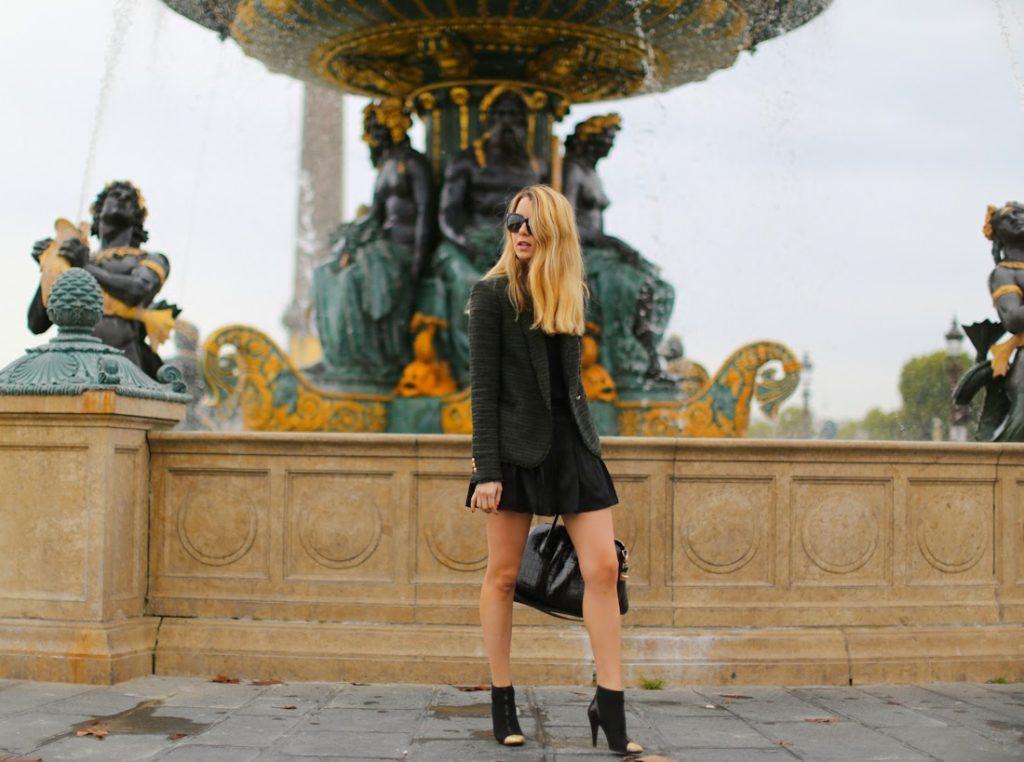 zara, givenchy, chanel, isabel marant, paris, place de la concorde, outfit, fashion blogger, the devil wears prada