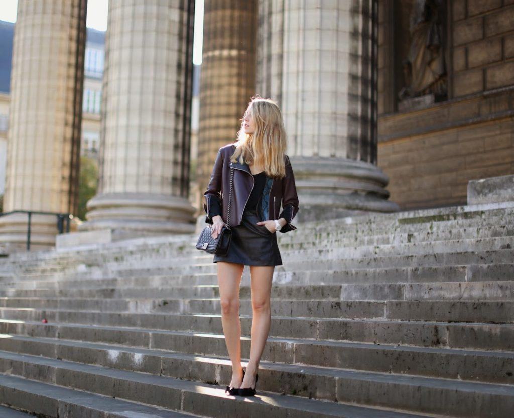 céline, leather jacket, topshop, isabel marant, chanel, lara bohinc, streetstyle, fashion blogger