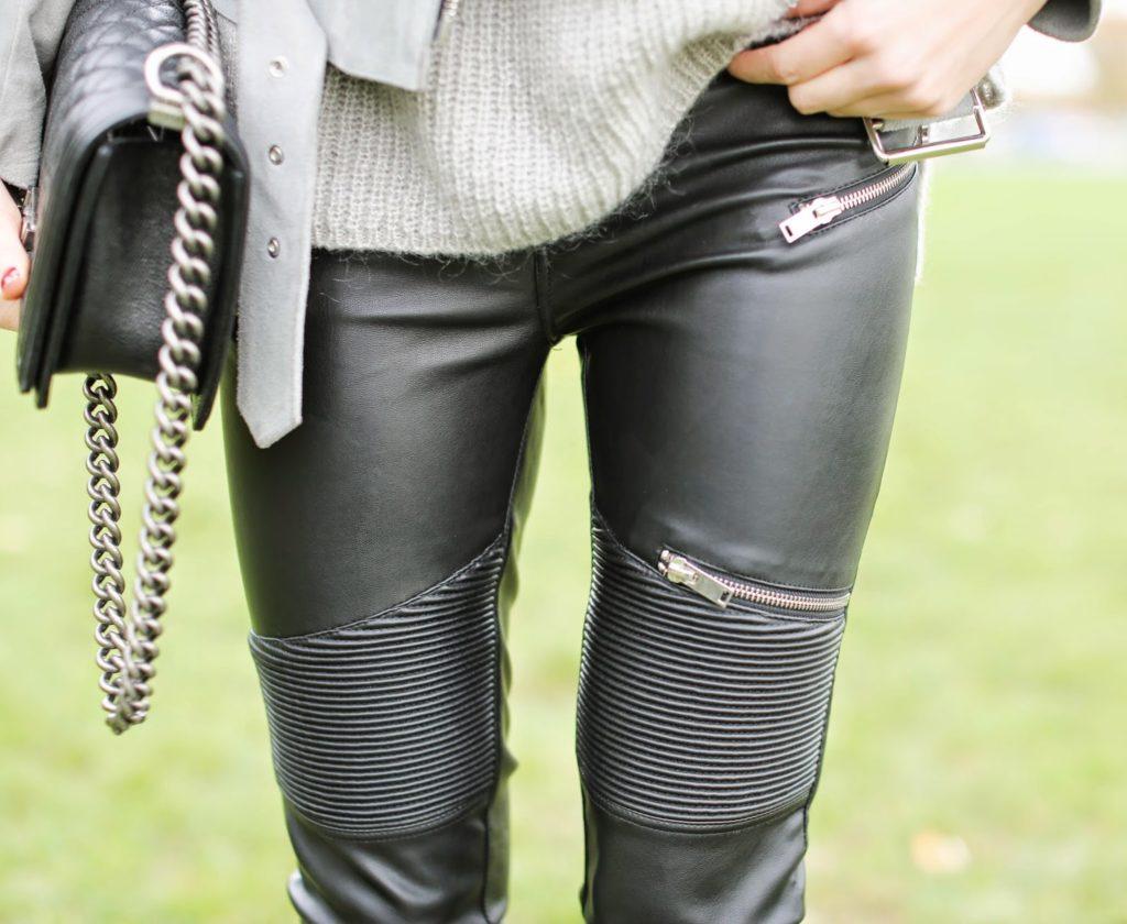 zara, leather pants, edgy, leather jacket, sandro, maison michel, nike air max, chanel boy, streetstyle, fashion blogger, invalides