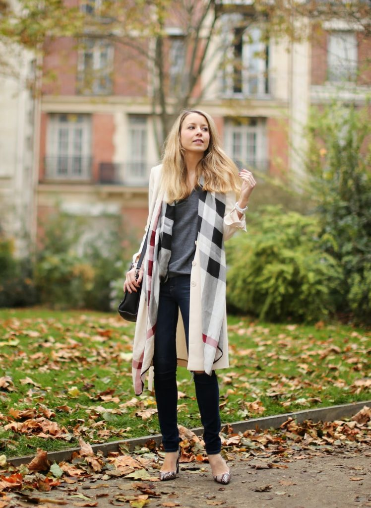 burberry, burberry scarf, trench, ripped jeans, zara, &otherstories, céline, python heels, frame denim, fashion blogger, streetstyle