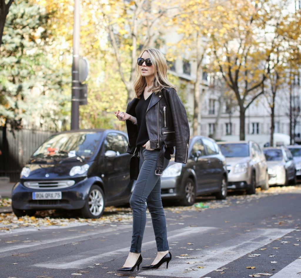 leather jacket, acne studios, perfect jeans, givenchy, saint laurent, edgy, streetstyle, fashion blogger, croc