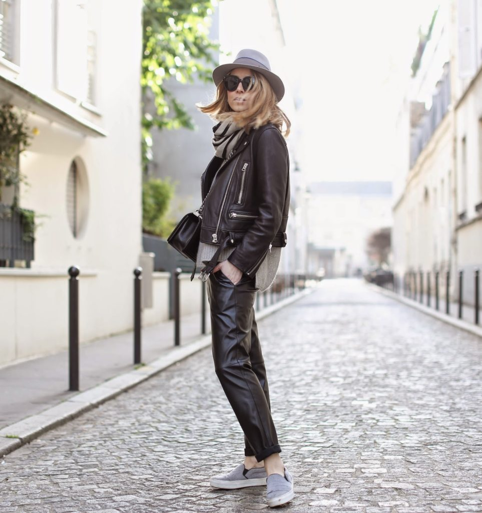 leather, leather on leather, acne, l'art du basic, maison michel, chanel, hermès, streetstyle, outfit, fashion blogger