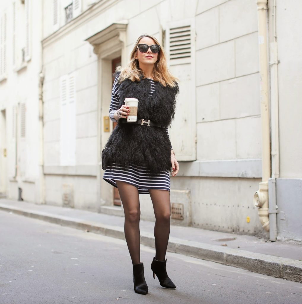 stripes, fur, bohemian traders, zadig et voltaire, zara, chanel, hermes, fashion blogger, streetstyle