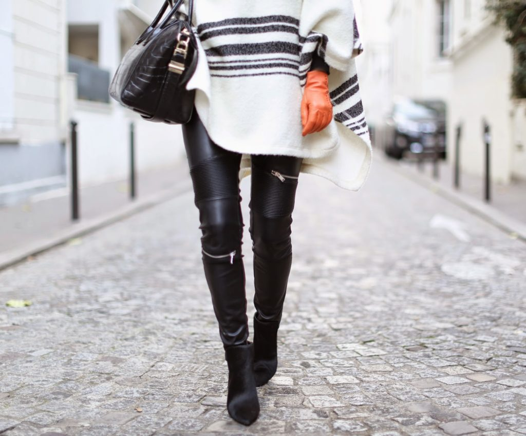 pardon my obsession, cape, zara, leather pants, hermès, givenchy, céline, streetstyle, fashion blogger, paris