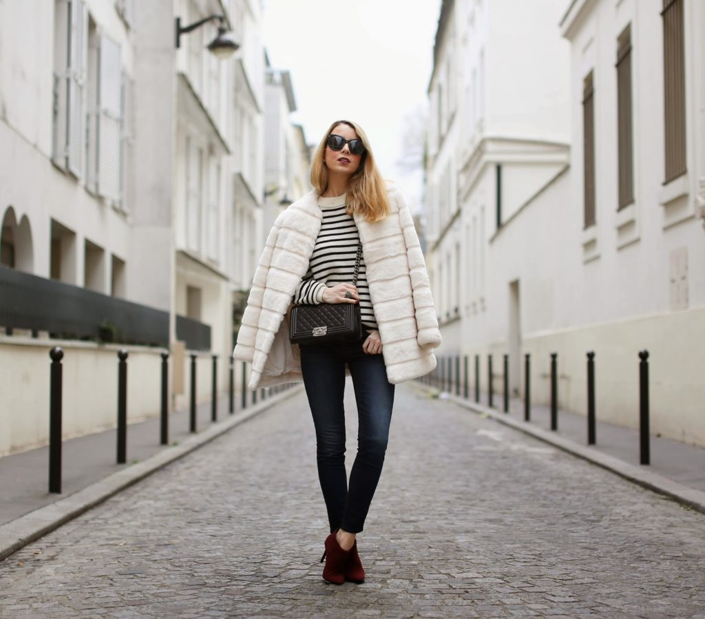 zara, faux fur, talley nyc, fashion blogger, streetstyle, chanel, high waisted jeans