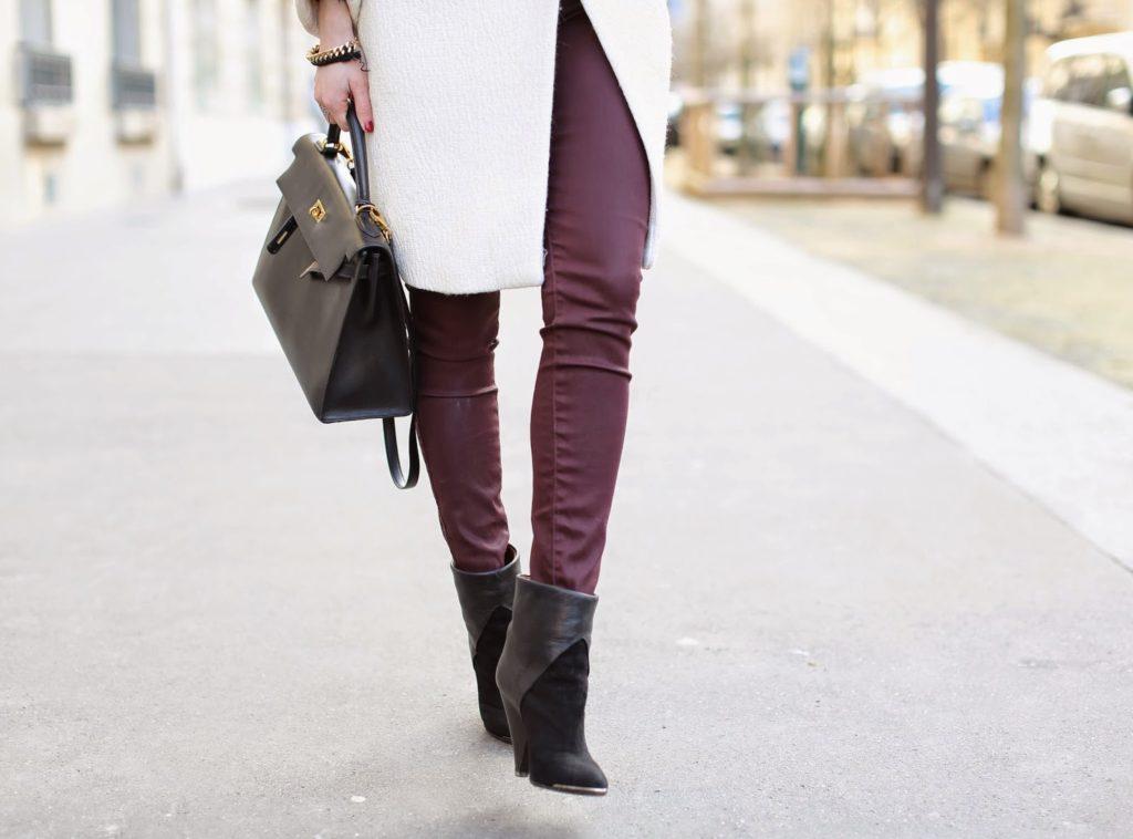 ladylike, zara, feminine, maison michel, iro, hermès, burgundy, streetstyle, fashion blogger, paris
