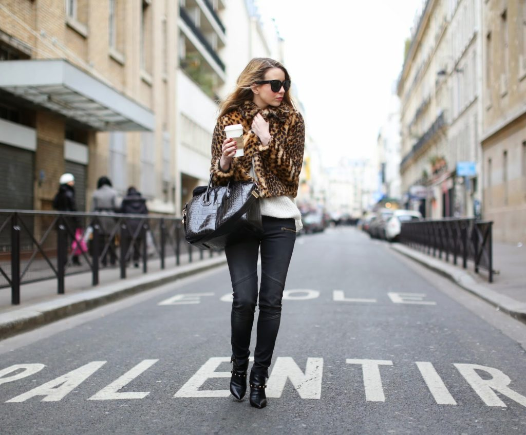 leopard, zara, faux fur, superfine, valentino, givenchy, streetstyle, fashion blogger, paris