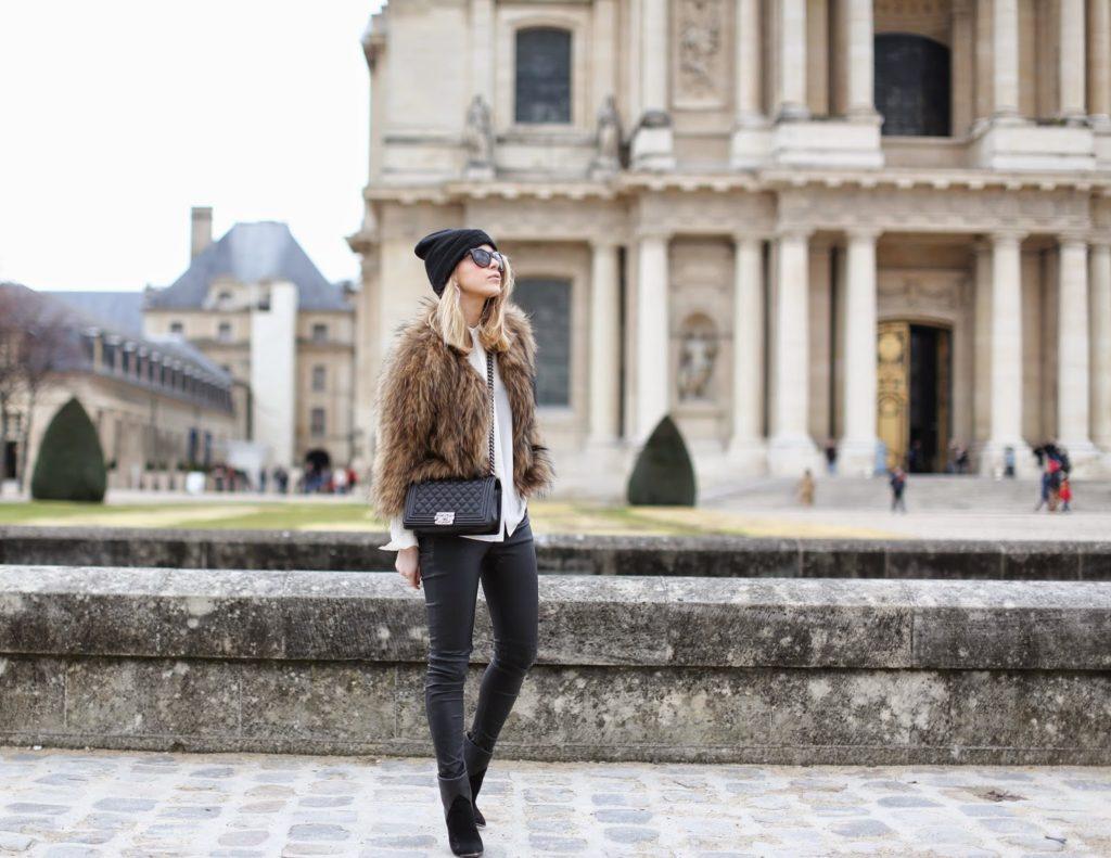 fur, leather, invalides, paris, blk dnm, iro, chanel, fashion blogger, streetstyle