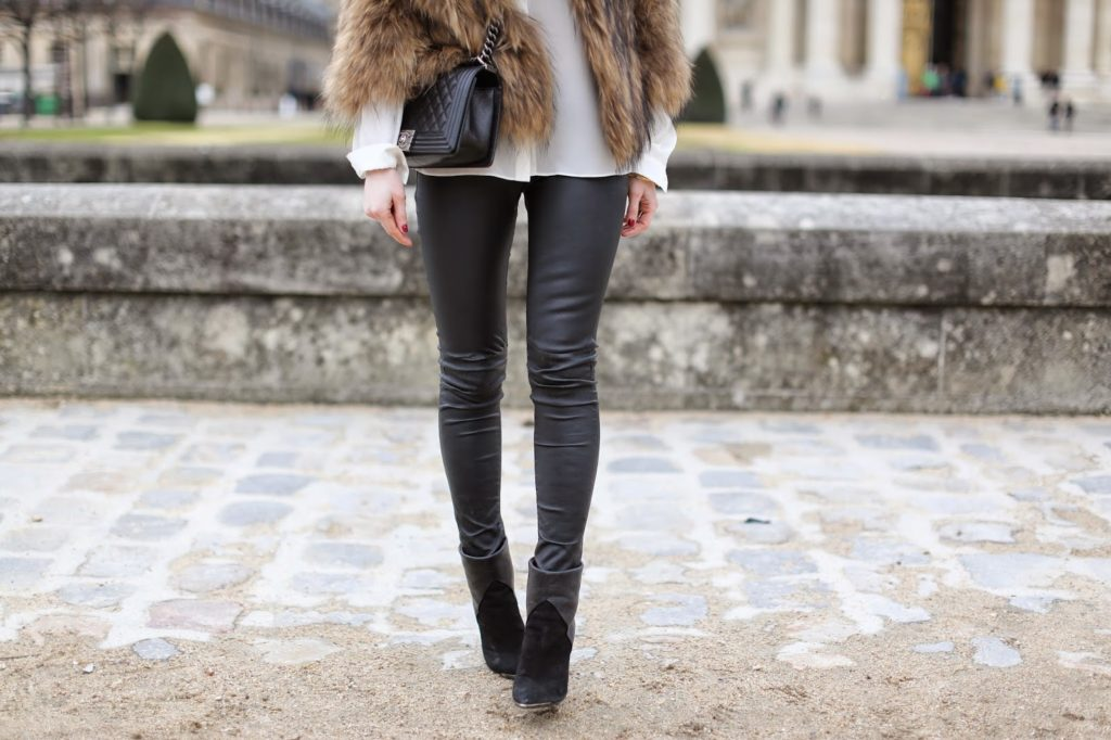 fur, leather, invalides, paris, blk dnm, iro, chanel, fashion blogger, streetstyle