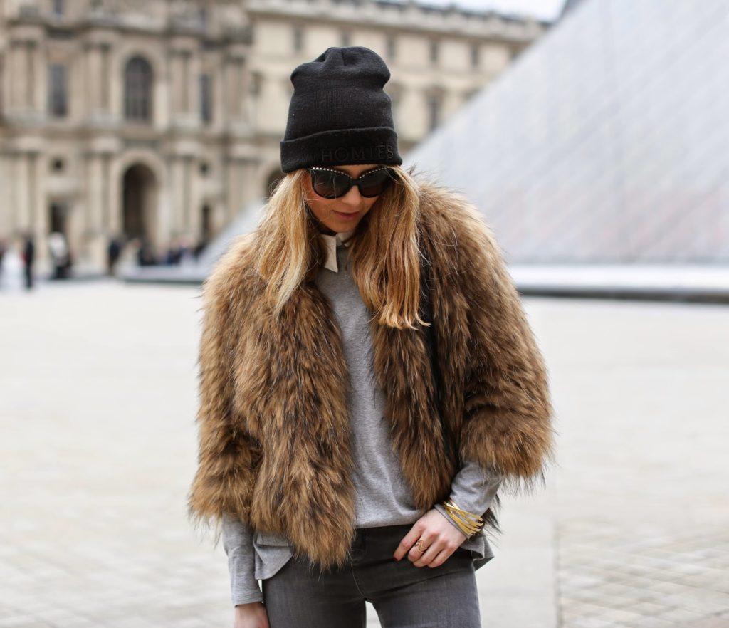 fur, topshop, céline, hermès, chanel, streetstyle, fashion week, paris, louvre