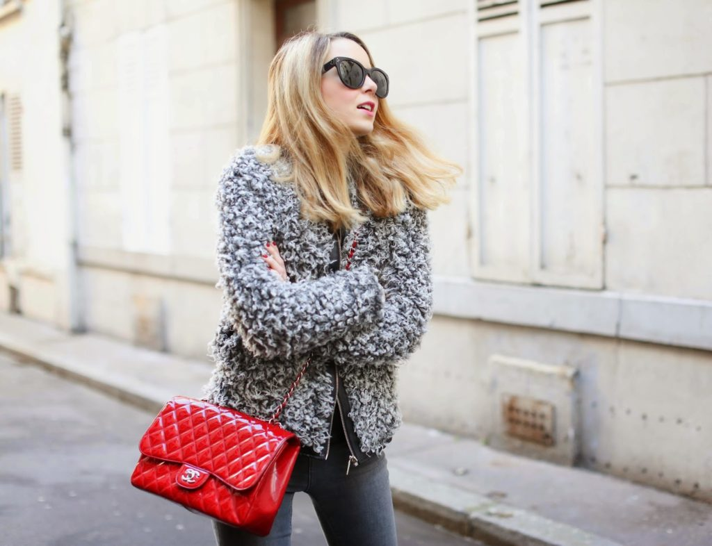 chanel, fluffy jacket, topshop, isabel marant, fashion blogger, streetstyle, céline