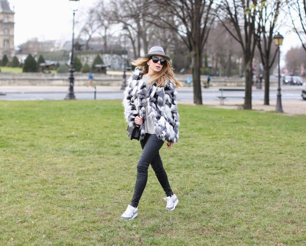faux fur, vero moda, fashion pills, nike, zara, blk dnm, streetstyle, fashion blogger
