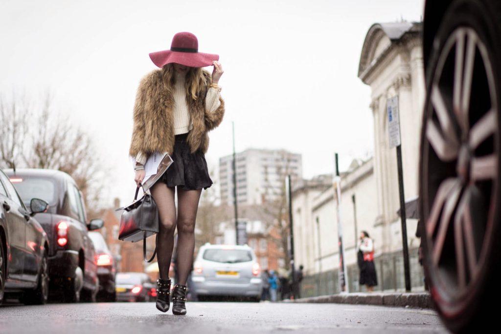 london, fur, valentino, hermès, maison michel, isabel marant, streetstyle