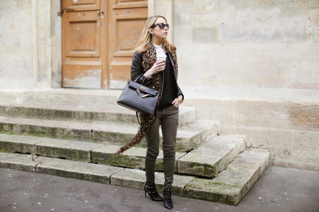 military, leopard, vuitton, hermès, acne, valentino, fashion blogger, starbucks, paris fashion week