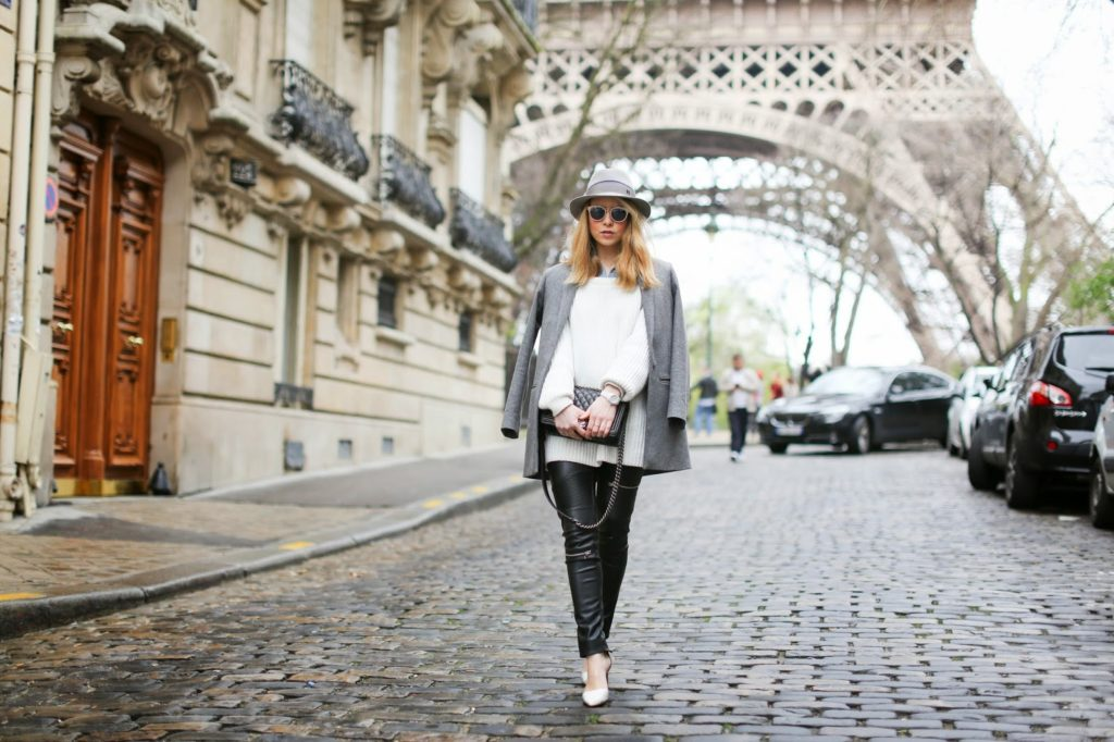 eiffel tower, streetstyle, cos, &otherstories, chanel, maison michel, zara, fashion blogger, neutrals