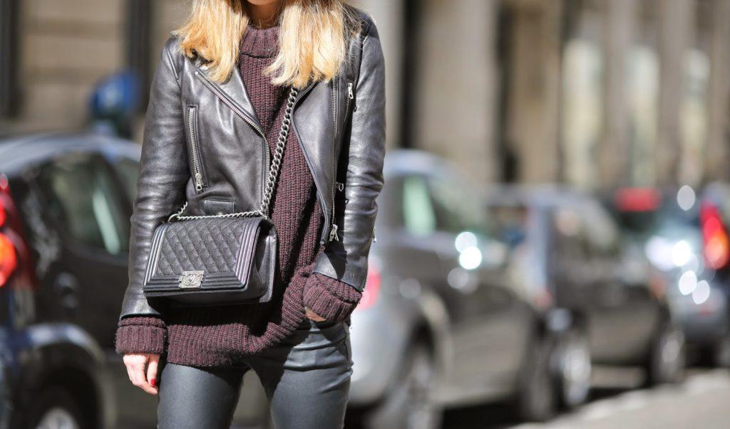 leather, maison michel, zara, acne, blk dnm, streetstyle, paris