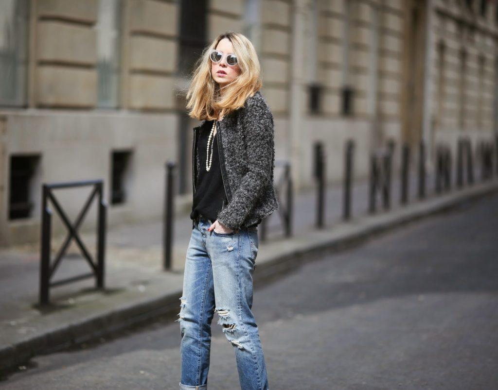 levi's, boyfriend jeans, zara, iro, chanel, streetstyle, fashion blogger