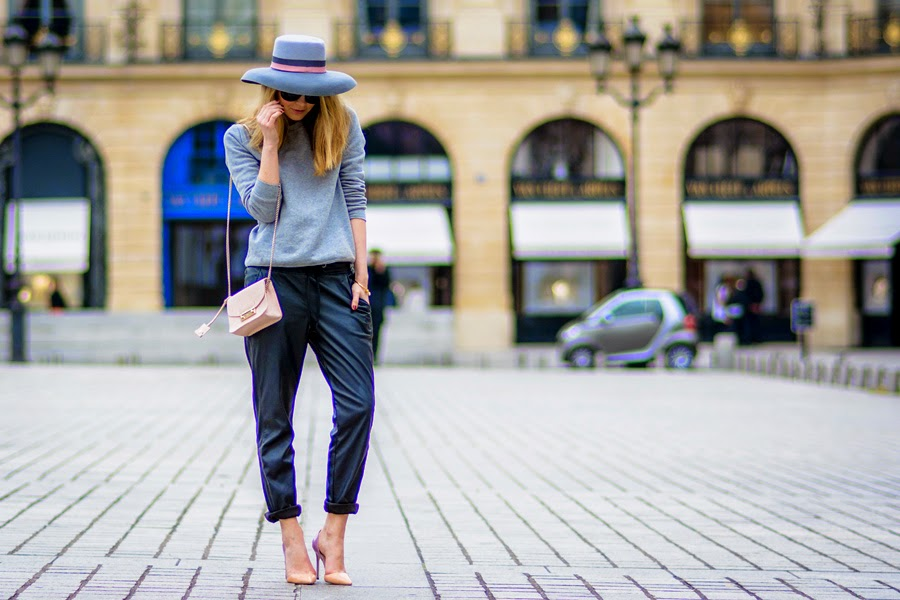 streetstyle, paris, maison michel, hat, furla, place vendôme