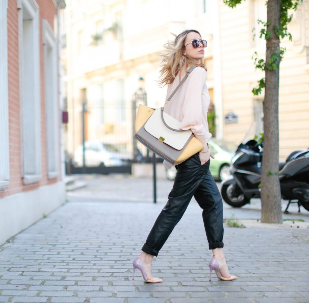 pardonmyobsession, streetstyle, leather, fashion blogger, paris, céline